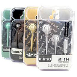 El auricular de voz de bajo MP3 original MI-114 encajonado con la marca de auriculares de alta calidad de oído plano desde bajo plano fabricantes