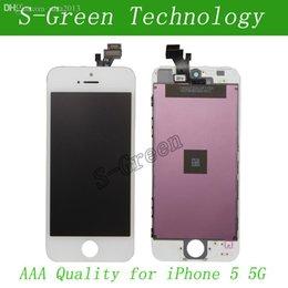 Descuento iphone vidrio de alta calidad Venta al por mayor-Alta calidad LCD para el iPhone 5 5G LCD Pantalla de pantalla táctil de vidrio Digitizador Reemplazo Asamblea Pantalla regalo