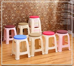 Wholesale home stool plastic chair student homework stool furniture shop retail red gray green color