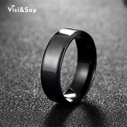 Visisap Black punk Rings For men Stainless steel ring male Cool anel bands for Husband high quality fashion jewelry VTGR018