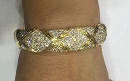 Bracelet en or blanc massif 18 carats avec diamants naturels à partir de pré en propriété fabricateur