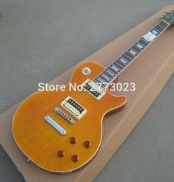 Wholesale Superior quality Slash Appetite Natural Yellow burst Guitar LP Slash Electric guitar with Zebra pickups