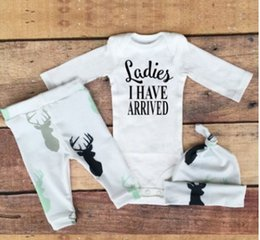 INS hot style in 2017 children baby long-sleeved clothes pants hat head hoop young children suit