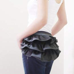 Cheap Kinies Steam punk Frilly bum purse Small waist Bags Packs Women ruffle bags Gathered Waist Purse Fanny Pack Hip Bag Pouch flower