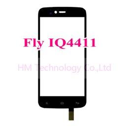 2017 quad lcd Vente en gros TP noir pour Fly IQ4411 4411 Quad Energie 2 écran tactile numériseur panneau de verre Pas de remplacement d'écran LCD Livraison gratuite + Outils quad lcd promotion