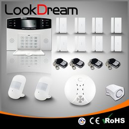 Update Wireless Electronic Home Alarm Apartment GSM Burglar Security Systems Low Consume Power By DHL Free