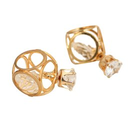 Junmei Front and back stereoscopic 3D Geometric Figure Style Jewelry Alloy 18k Plated earring stud