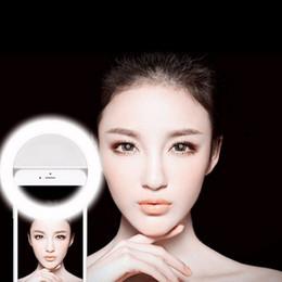 Descuento anillo de luz led de la cámara Portable Flash 36 Cámara Led Mejorando la fotografía Luz de anillo Selfie para Smartphone iPhone 6 más 6s 6 5s 5 4s 4 Samsung Galaxy