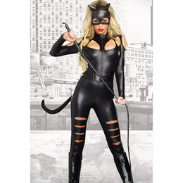 2017 Christmas Europe and the United States fashion new Halloween black long-sleeved sexy cat female fight piece suit tights