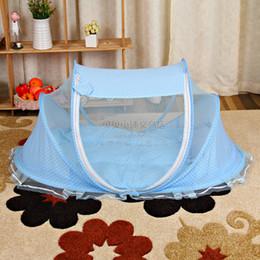 Descuento altos tiendas de campaña Venta al por mayor de alta calidad Baby Mosquito Net bebé infantiles Tent Colchón Cuna Bed Canopy Cushion + Pillow