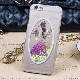 Bling Colorful Quicksand Lovers Hard Case for iPhone6 6s Transparent Butterfly Back Cover for iPhone6s Plus Girl's Cellphone Cases