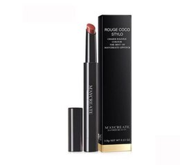 Fit the Chinese 4 g pumpkin color matte color lipstick is not easy to rub off lasting moisture moist lipstick free shipping