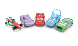 Wholesale 5 each set Pixar Cars alloy car NO Frank holly car model metal animated cartoon birthday gift Lightning McQueen