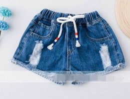 2017 style denim enfant 2017 Summer New Baby Shorts Pantalon élastique taille taille denim Shorts Vêtements pour enfants 30203 style denim enfant à vendre