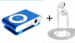Mp3 mémoire lecteur 1gb en Ligne-Vente en gros- Portable Metal Clip MP3 Player Pas de lecteur de carte mémoire avec le meilleur écouteur