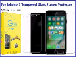 Acheter en ligne Écrans 4s-Pour Iphone 7 Fullbody Protecteur d'écran en verre trempé pour Iphone 6S 7 Plus 5S 4S 9H Dureté avant et arrière Premium Toughened Film