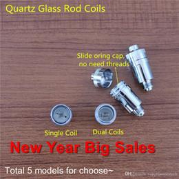 Wholesale 2017 New Year Big Sales Wax Vaporizer Globe Glass Replacement Coils Ti2 Wire Quartz Wick Wax Dual Coils Vase Cannon Dual Coil MOQ
