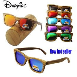 wholesale new grade promotion Wood Sunglasses Real Bamboo Wood Sunglases Men Women Polarized Driving excelllent Glasse free shipping
