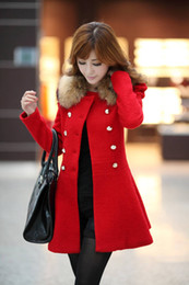 Winter Woollen Coat Women Slim Long Overcoat Dust Coats