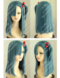Sexy new style Anime Dragon Ball Z Bulma Modeling style blue cosplay Costume wig