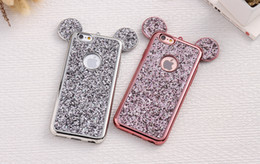 Wholesale Bling Paillettes TPU Case For iPhone plus Moto G3 Cover Glitter Mouse Ear Shell Capa For iPhone Cases Phone Coque Fundas