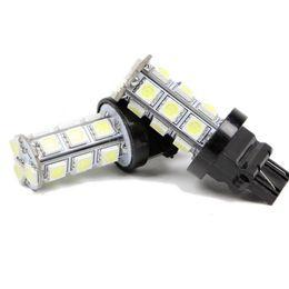 100pcs T20 18-SMD 5050 LED Stop Tail Brake Reverse Backup Car Light Turn Signal Bulb Lamp