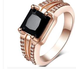 Fancy Sz8 lady's black Sapphire 10kt yellow gold ring