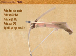 Wholesale Hunting Bow Crossbow W Arrow Quiver Wood Kid Children Youth Cross Bow Toy Gun Set Wooden Archery Crossbow