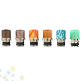 Newest Design Acrylic SS Drip Tips Stainless Steel with Acrylic Wide Bore 510 EGO Atomizer Mouthpieces for E Cig Tanks DHL Free