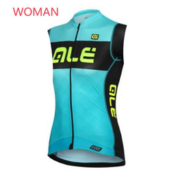 Ale mulheres ciclismo On-line-ALE Woman High-Quality Cycling Jersey Camisola Sem Mangas Maillot Ciclismo Roupa De Bicicleta Respirável Sportwear F2208