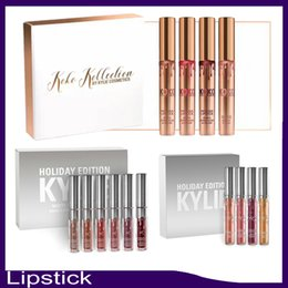 Wholesale Newest Kylie Holiday Edition Kit set Matte kylie jenner Liquid lipgloss For Christmas Gift from idea