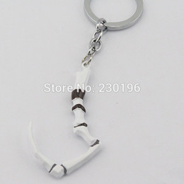 Wholesale Hot Online Game Dota Keychain Pudge s Meat Hook Weapon Model Key chain