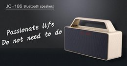 Wholesale 2017 JC Bluetooth speakers Micro SD Aux in Handsfree Call Stereo Portable Speaker double horn double bass