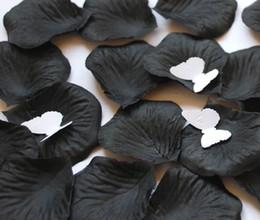 Black Silk Rose Petals Wedding Favour Party Flower 25 Bags (100 pcs per bag)