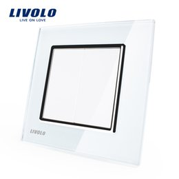 Free Shipping,Manufacturer Livolo Luxury White Crystal Glass Panel,EU Standard, All Blank Socket, VL-C792K-11