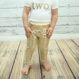 Wholesale gold baby leggings gold sparkle pants girls leggings toddler gold pants sequin leggings sequin pants Shiny Metallic tights
