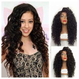 Boucle bouclée fer à friser les cheveux en Ligne-1b # 2 # 613 # 27 # afro boucle de cheveux cheveux de bébé synthétique kinky bouclé perruque résistant à la chaleur 100% fibre synthétique dentelle front perruques fer plat