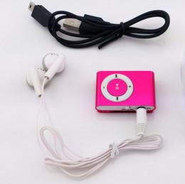 Promotion mp3 mémoire lecteur 1gb Vente en gros-2016 Portable Metal Clip MP3 Player avec 8 couleurs Candy Pas de lecteur de musique de carte mémoire avec slot TF Les écouteurs fournis