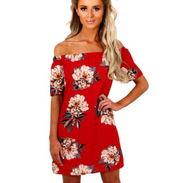 2017, Europe and America, women's new best selling, short sleeved word collar, pure color printed dress, short skirt