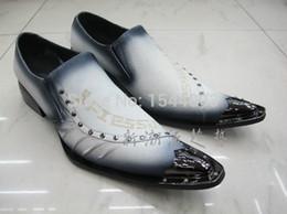 2017 los hombres hechos a mano de los zapatos oxford Spray Color Hombre Hechos a mano Oxfords zapatos Pointec Toe Hombre zapatos de vestir remaches New Oxford Zapatos para hombres Club Sapato Social Masculino los hombres hechos a mano de los zapatos oxford en oferta