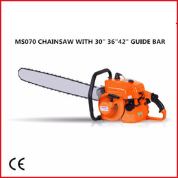 free shipping charge MS070 heavy gasoline chainsaw with30in 36inch 42inch alloy bar and saw chain, 105cc 4.8kw made in china