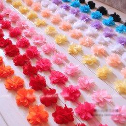 Descuento cosiendo flores 3d 20 yardas Lace Craft 3D Rose gasa flor 6 cm ancho recorte DIY accesorios de costura de vestido de la venda para la ropa