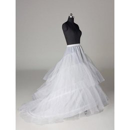 Cheap Wedding Petticoats Layers Tulle Crinoline for Dresses with Train Free Size Wedding Dresses Underskirt CPA211