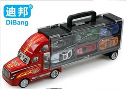 12PCS car toys for children educational toy TRUCK and trailers Pullback Racers