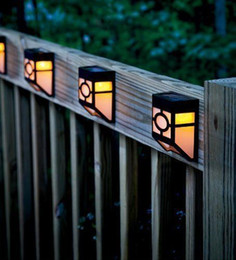 Wholesale Black Lawn Lamps Modern Solar Powered LED Outdoor garden light lights wall mounted Wall Patio Light