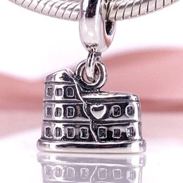 Authentic 925 Sterling Silver Sterling Silver Colosseum Dangle Charm Fit DIY Pandora Bracelet And Necklace 791079