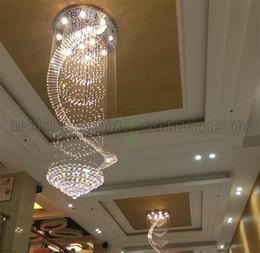 Wholesale Modern Chandelier LED K9 Crystal Lamps Long Pendant Chandelier Lustres De Cristal Kronleuchter Spiral Stair Chandelier MYY