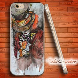 Coque The Hatter Soft Clear TPU Case for iPhone 7 6 6S Plus 5S SE 5 5C 4S 4 Case Silicone Cover.