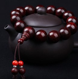 Wholesale Authentic red rosewood on board beads