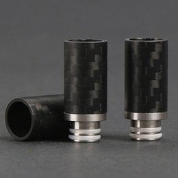 Carbon Fiber 510 Drip Tips Flat Wide Bore Drip Tip 510 EGO Atomizer Mouthpieces for RDA Atomizer Carbon Firber Mechanical Mod DHL Free